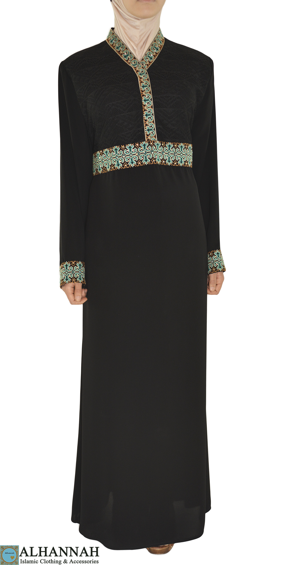 Abaya Embroidery Patterns Karimah Abaya Ab670