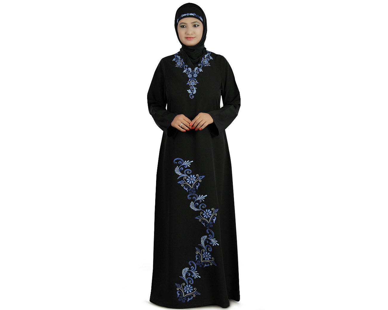 Abaya Embroidery Patterns Mybatua Traditional Black Embroidered Kashibo Abaya Islamic Evening And Party Wear Gown Elegant Muslim Clothing Jilbab Jalabiya Ay 203