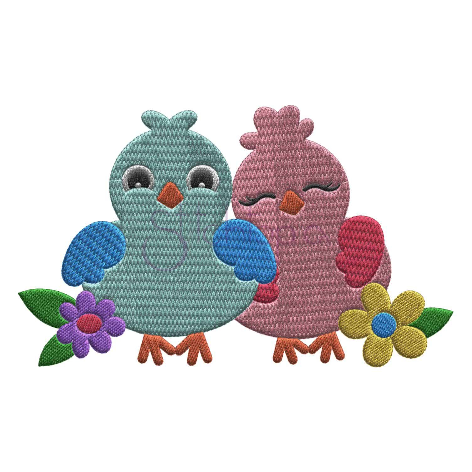 Bird Embroidery Pattern Bird Embroidery Design Lovebirds