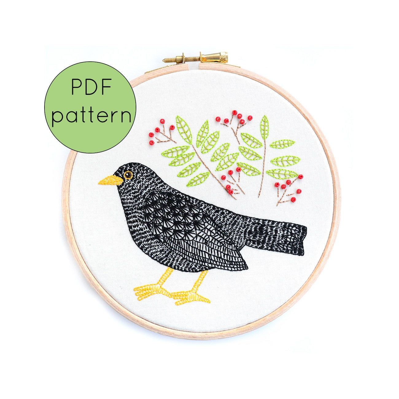 Bird Embroidery Pattern Bird Embroidery Pattern Pdf Pattern Digital Pattern Imagezco