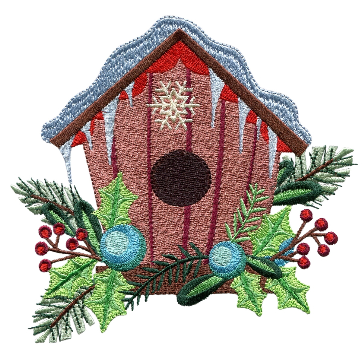 Bird Embroidery Pattern Birdhouse Winter Is For The Birds Embroidery Design