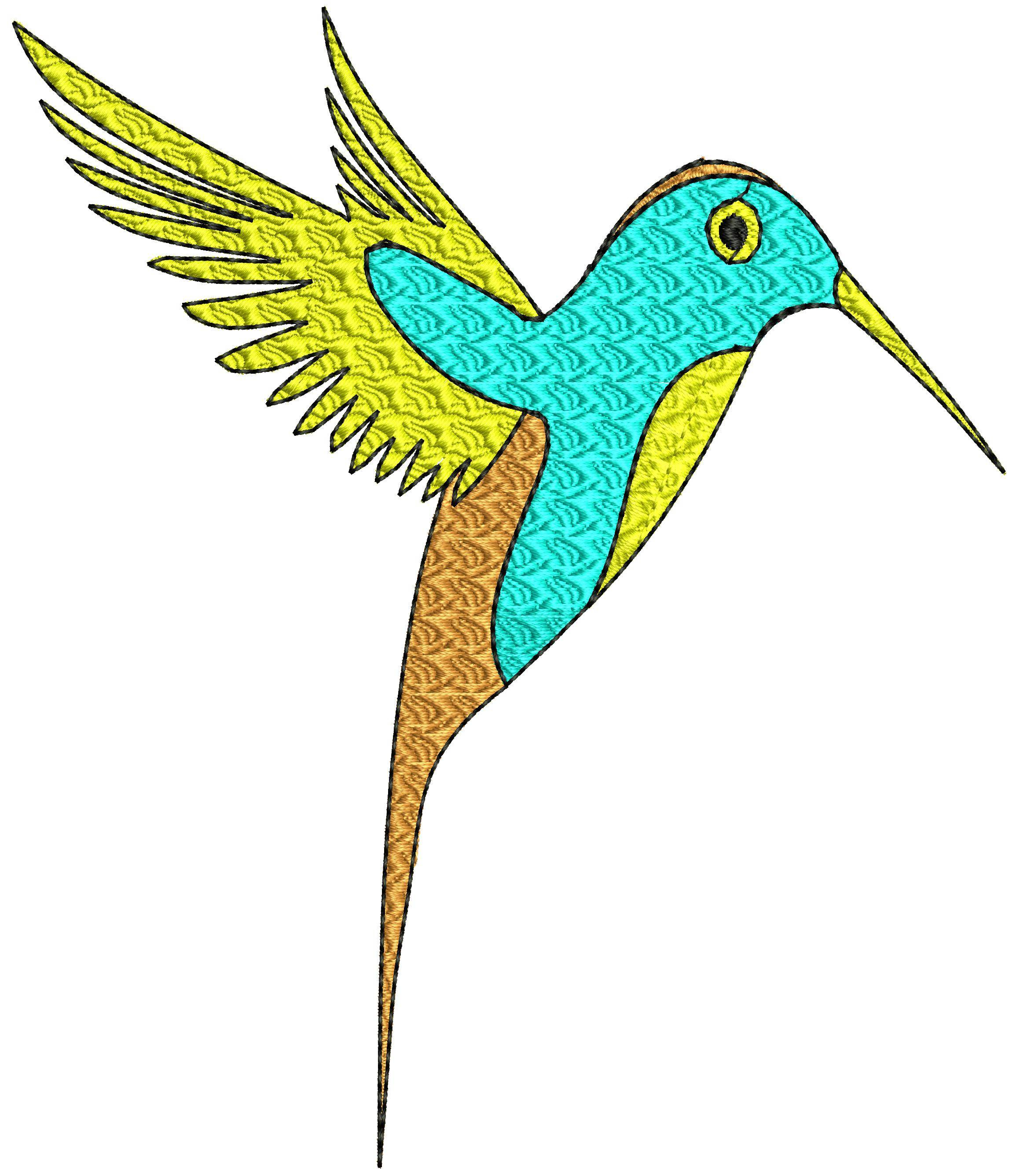 Bird Embroidery Pattern Colorline Bird Embroidery Design