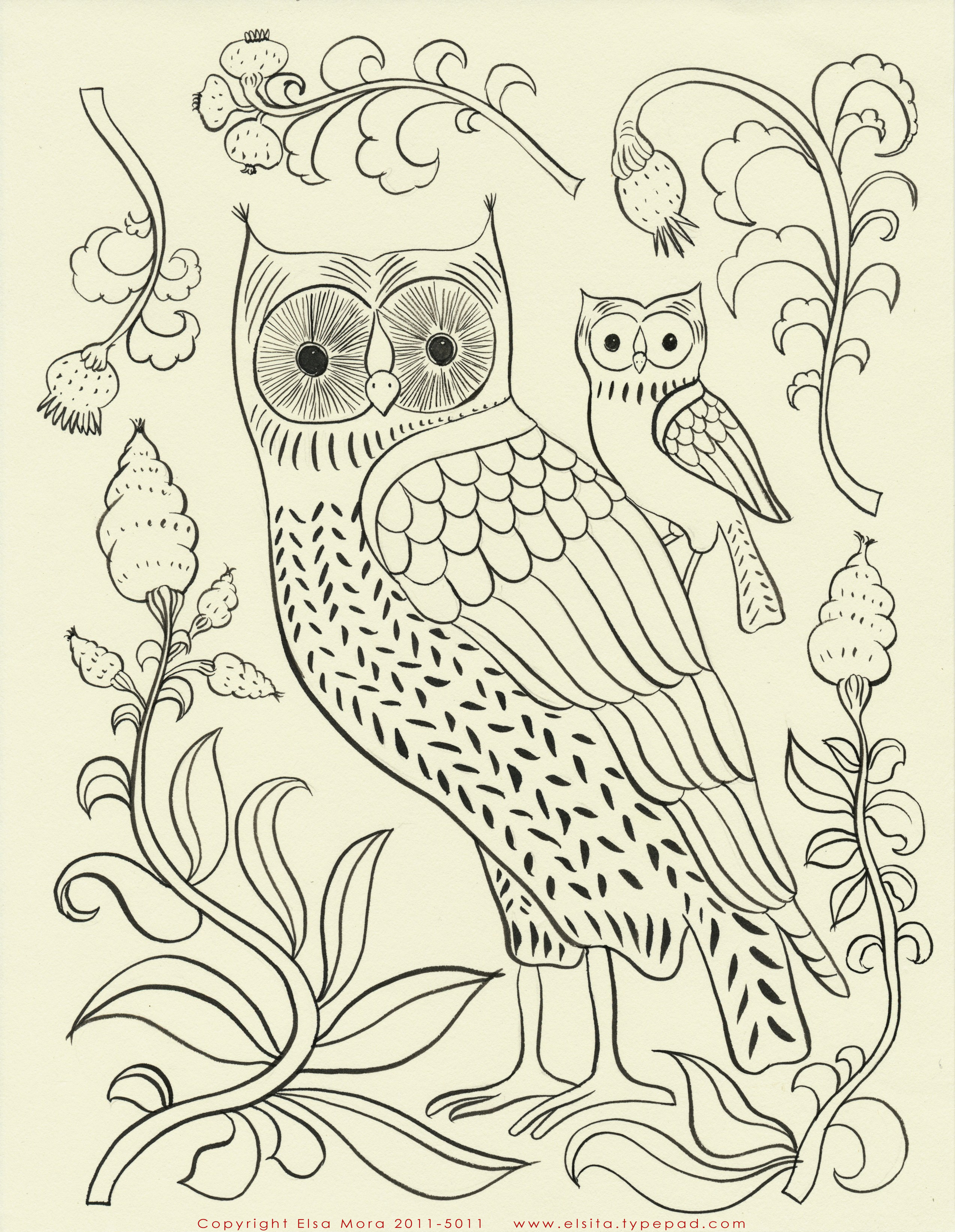 Bird Embroidery Pattern Elsa Mora Two Free Embroidery Patterns For You