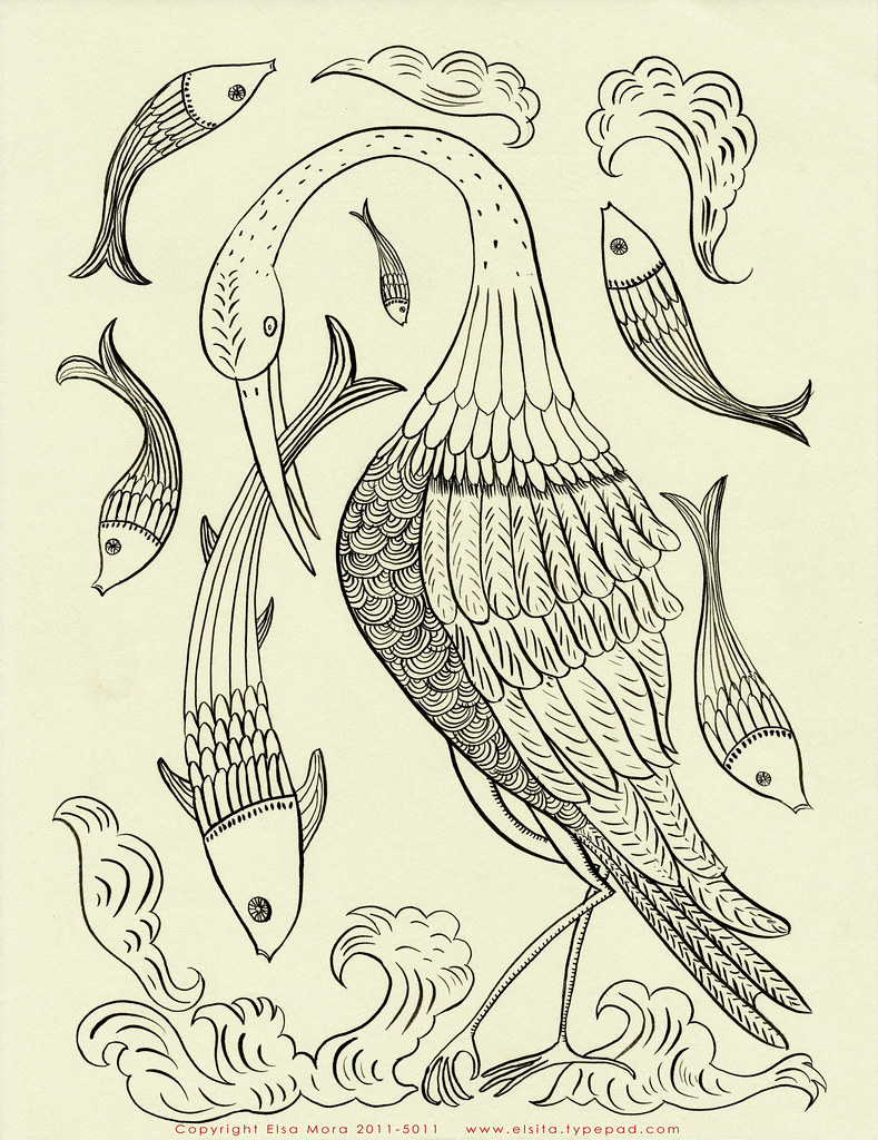 Bird Embroidery Pattern Free Bird And Fish Embroidery Pattern Pattern That I Crea Flickr