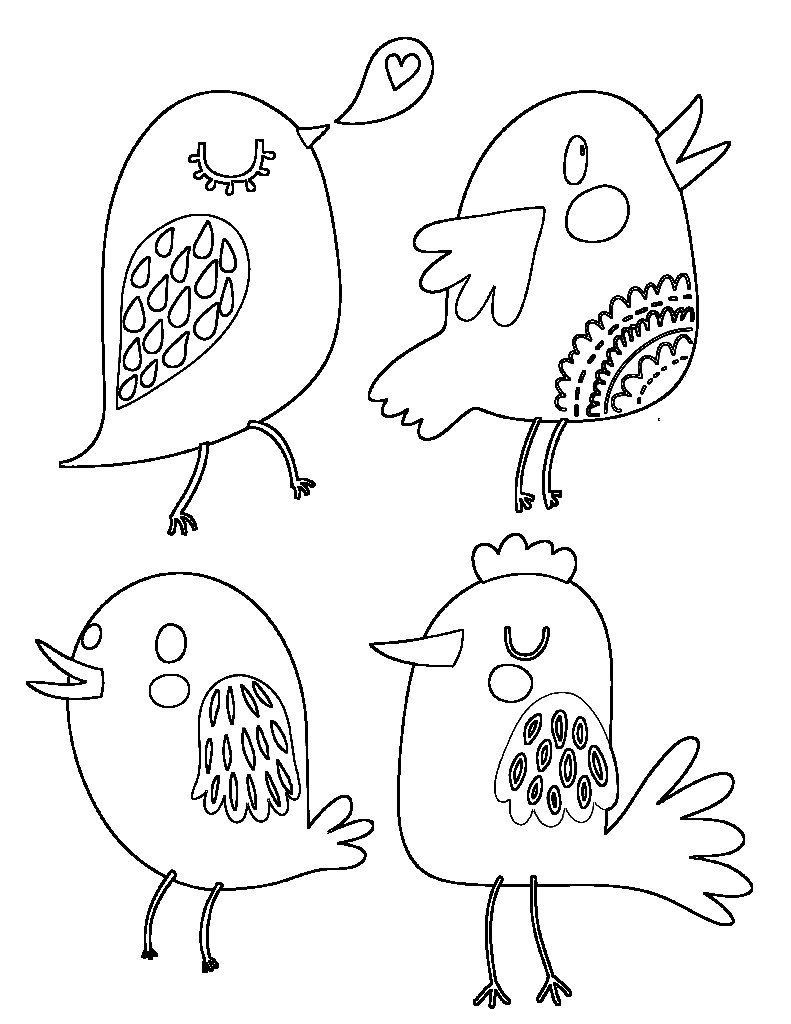 Bird Embroidery Pattern Free Embroidery Patterns Cute Birds The Graffical Muse