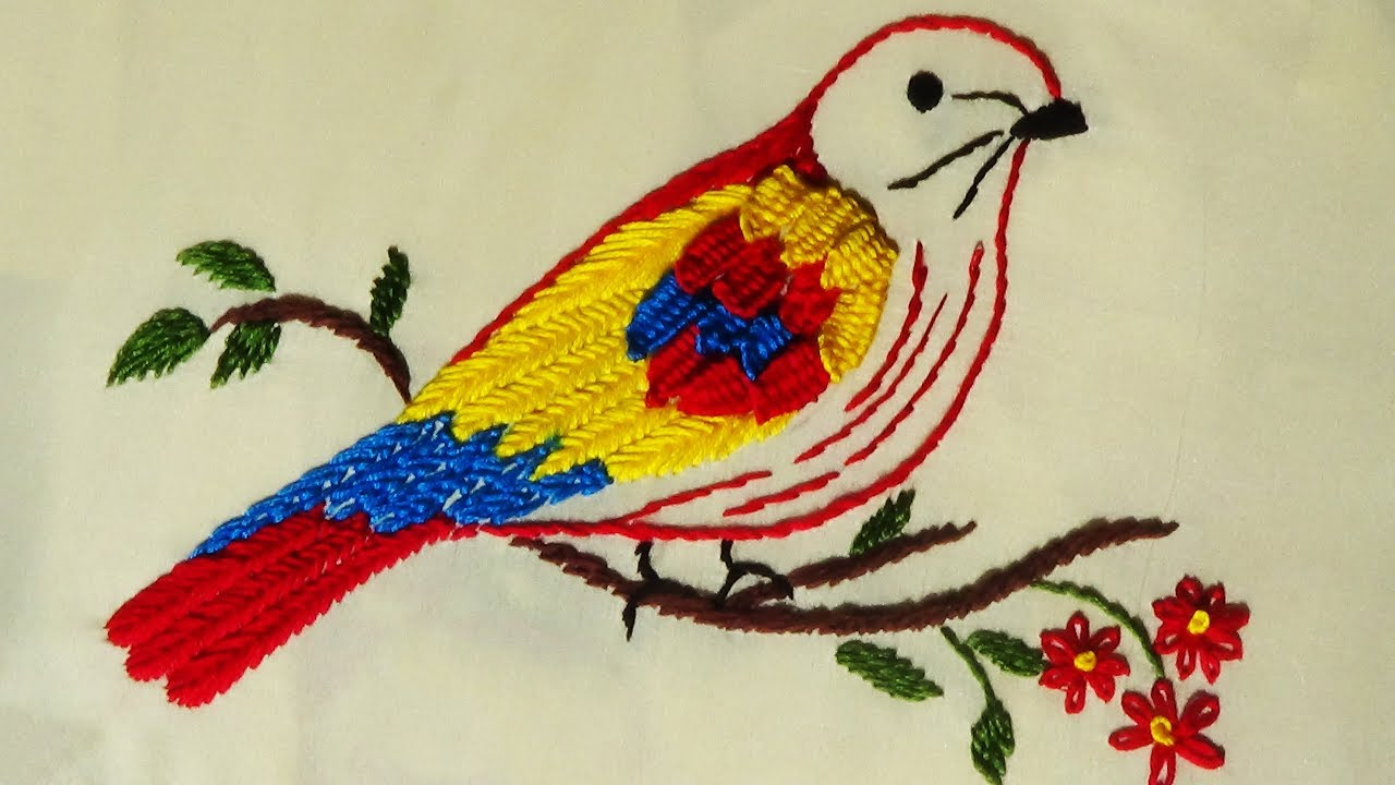 Bird Embroidery Pattern Hand Embroidery Bird Embroidery