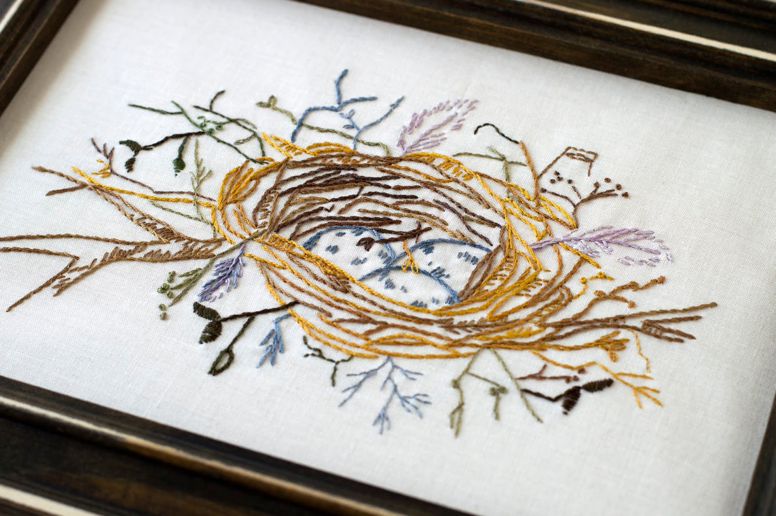 Bird Embroidery Pattern Mays Bird Nest Hand Embroidery Pattern