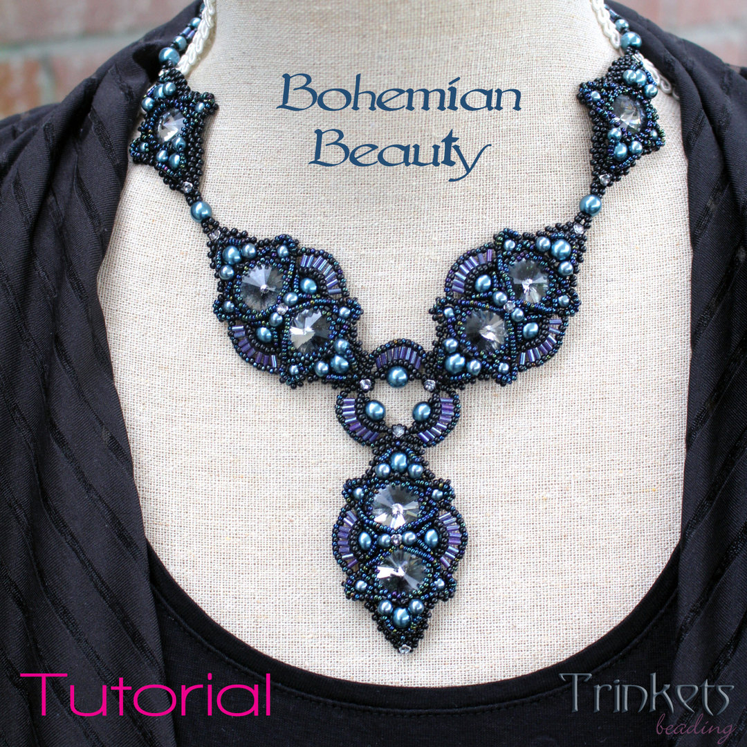 Bohemian Embroidery Patterns Beading Pattern Necklace Bohemian Beauty