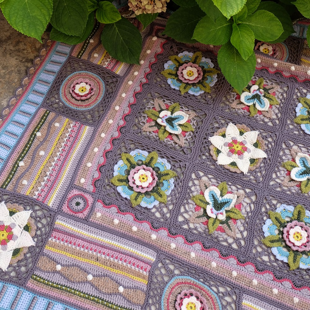 Bohemian Embroidery Patterns Bohemian Blooms Crochet Blanket Pattern Book