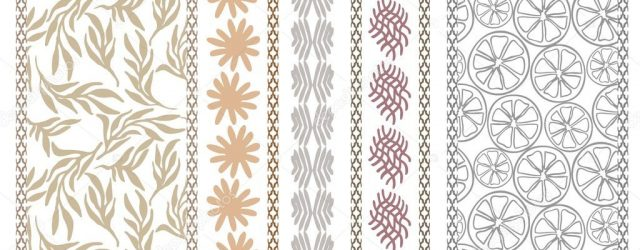 Bohemian Embroidery Patterns Set Of Floral Embroidery Borders With Bohemian Motifs Hand Drawn