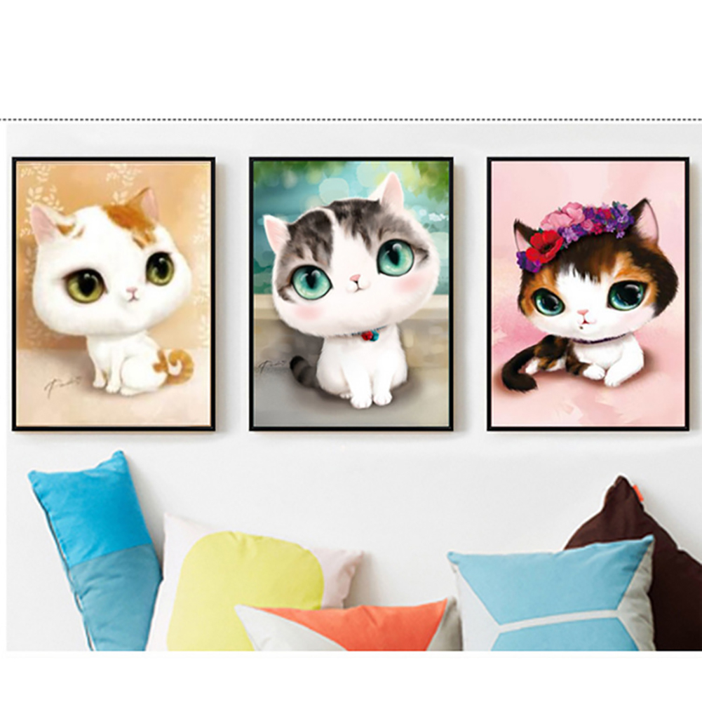 Cat Embroidery Patterns 5d Diy Cartoon Cat Pattern Diamond Painting Embroidery Patterns Wall