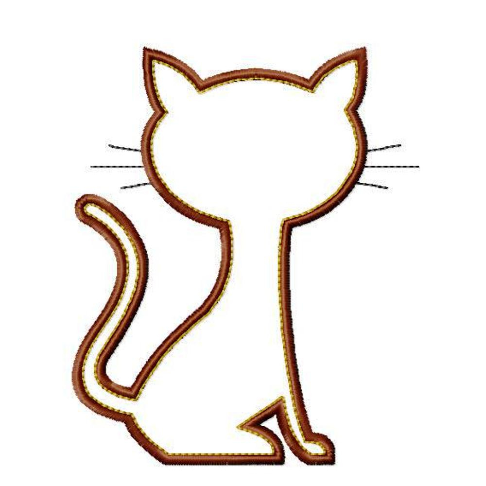 Cat Embroidery Patterns Cat Silhouette Applique Patterns