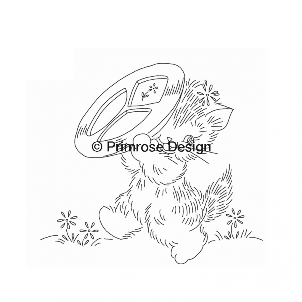 Cat Embroidery Patterns Vp106 Cute As A Kitten