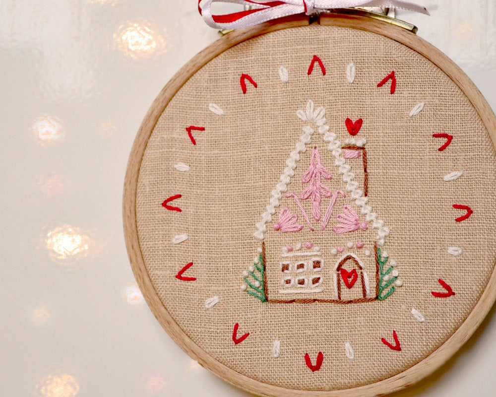 Christmas Hand Embroidery Patterns Hand Embroidery Patterns Pdf Christmas Ornament Gingerbread House Naiveneedle