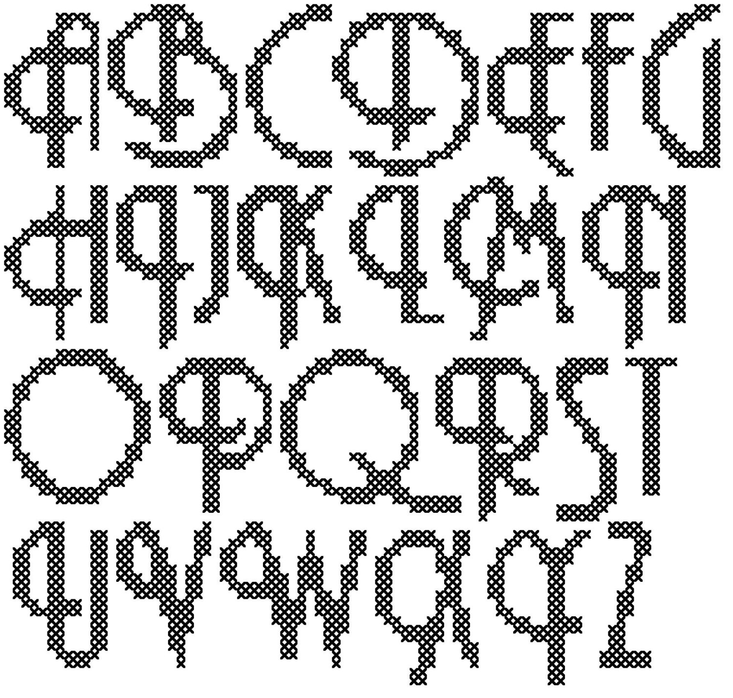 Embroidery Alphabet Patterns Embroidery Alphabet Patterns For Cross Stitch