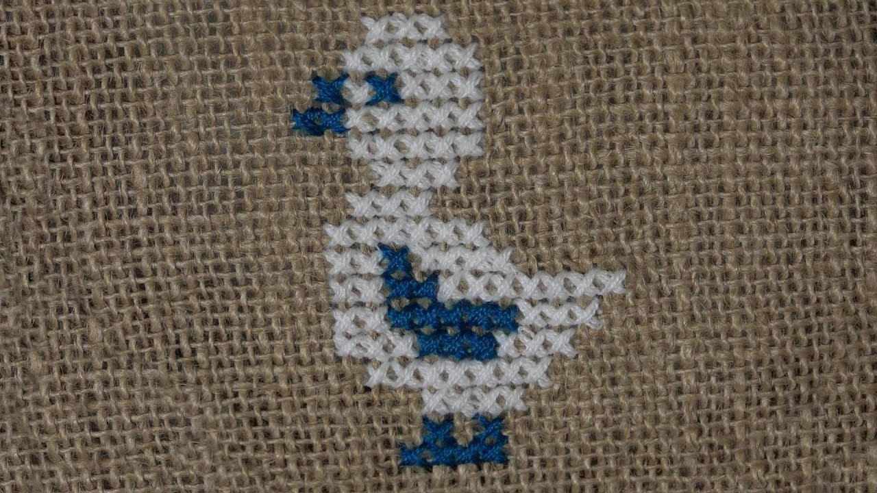 Embroidery Bird Patterns Hand Embroidery Cross Stitch Embroidery Bird Pattern Duck On Jute Mat