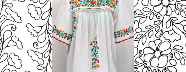 Embroidery Dress Patterns Ethnic And Multicultural Embroidery Patterns