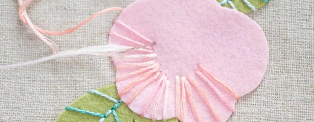 Felt Embroidery Patterns How To Create Embroidered Felt Flowers