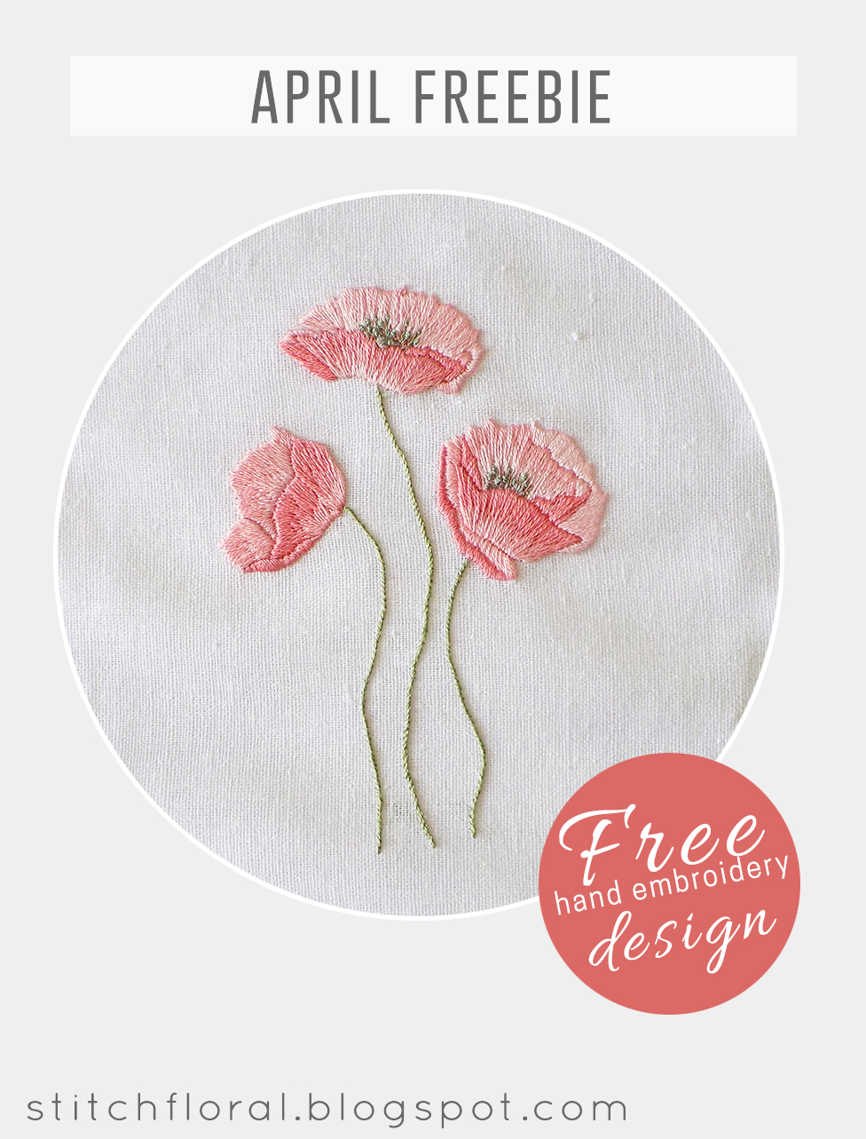 Free Flower Embroidery Patterns Dancing Poppies Hand Embroidery Freebie Stitch Floral