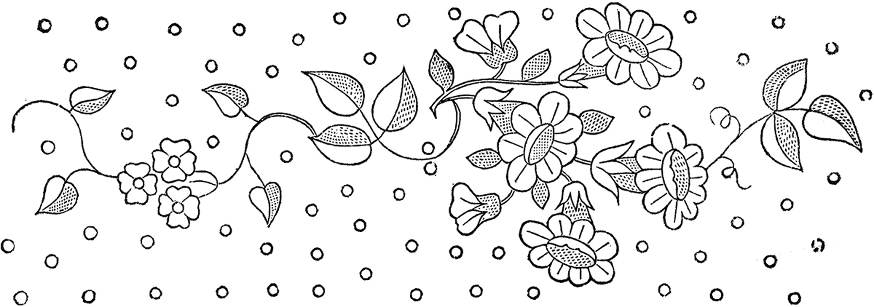 Free Flower Embroidery Patterns Floral Embroidery Patterns Pretty The Graphics Fairy