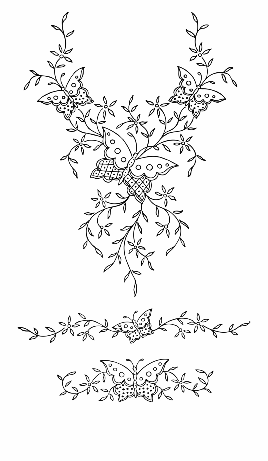 Free Flower Embroidery Patterns This Free Icons Png Design Of Ornamental Butterflies Victorian