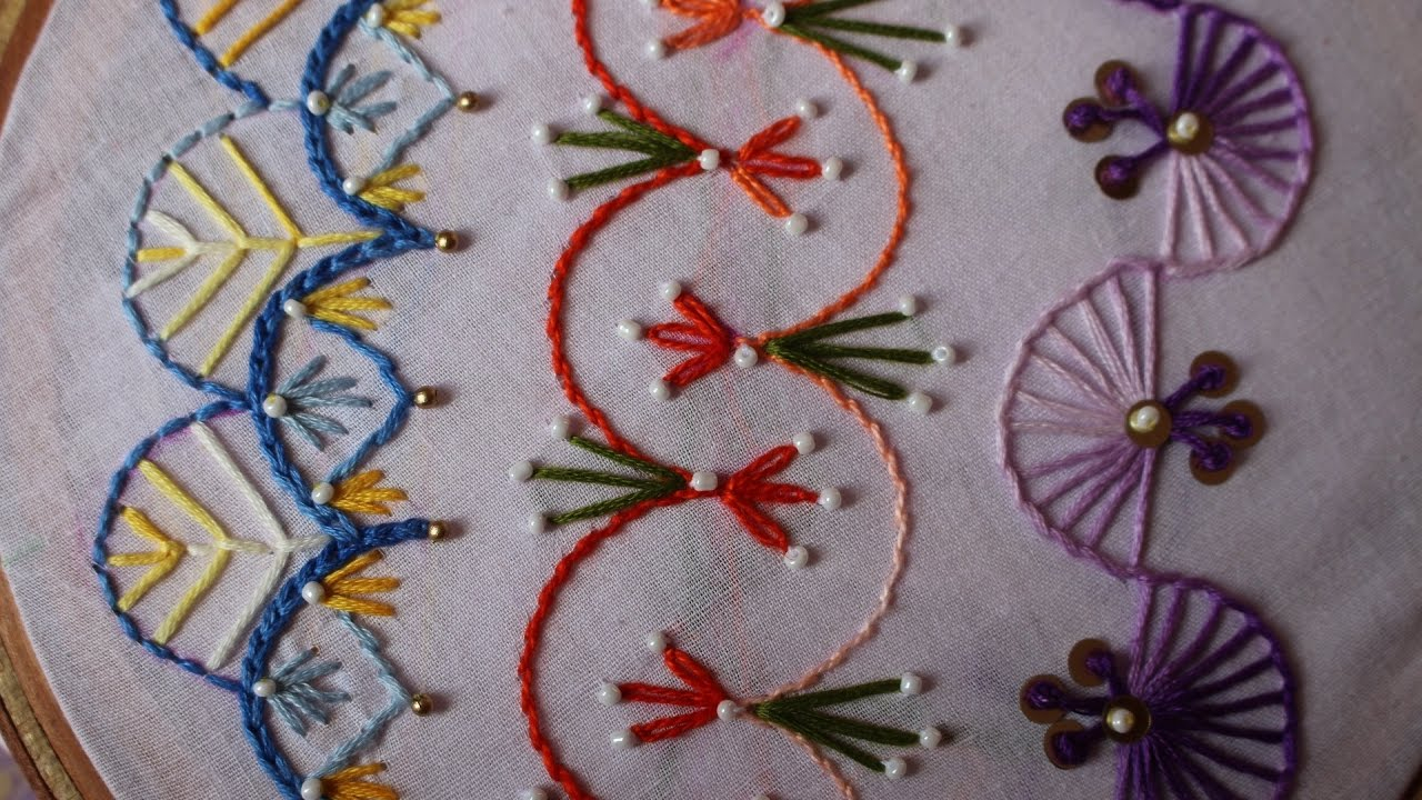 How To Design Embroidery Patterns By Hand Hand Embroidery Designs Basic Embroidery Stitches Part 8 Stitch And Flower 98