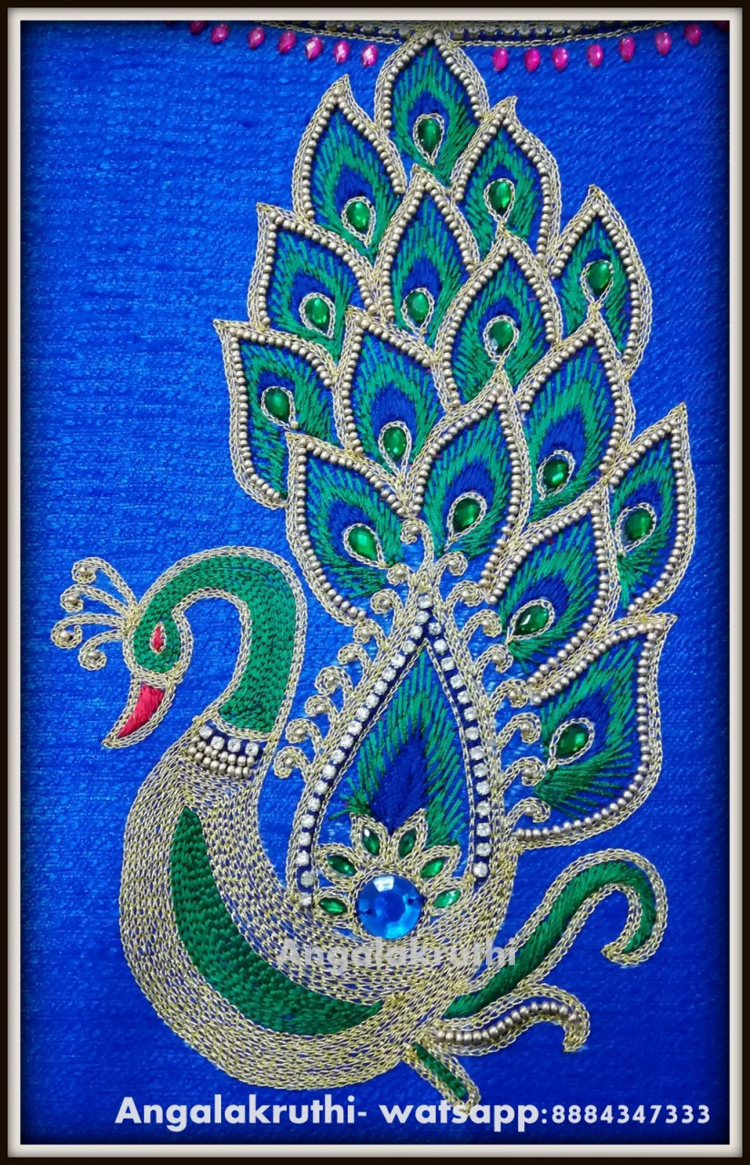 How To Design Embroidery Patterns By Hand Peacock Feather Embroidery Designs Beautiful Hand Embroidery Peacock