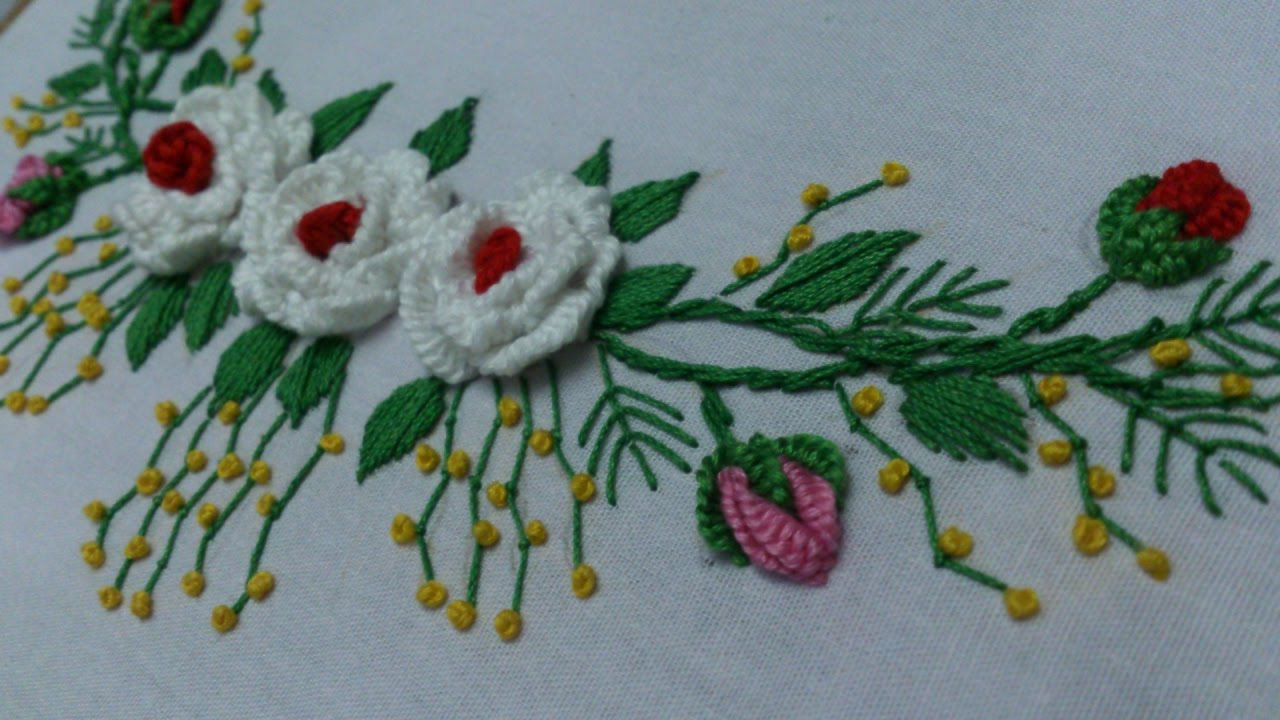 How To Make An Embroidery Pattern Hand Embroidery Designs Embroidery Tutorialembroidery For Frocks And