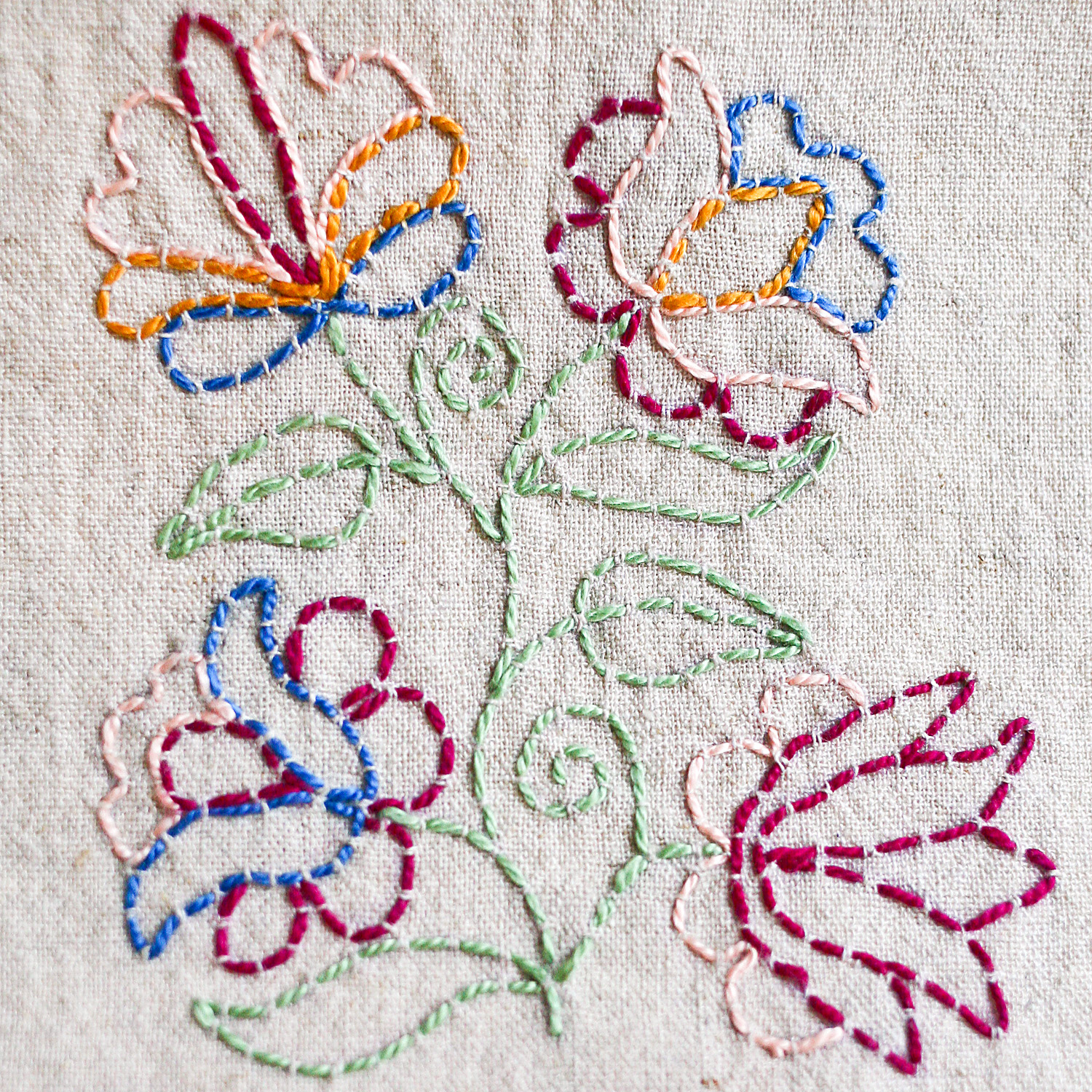 How To Make An Embroidery Pattern Outlining With Running Stitch A Tutorial Kate Rose