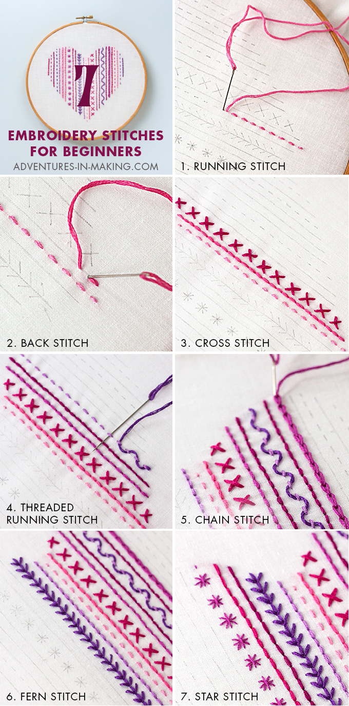 How To Make Embroidery Patterns Diy Heart Embroidery Sampler For Beginners
