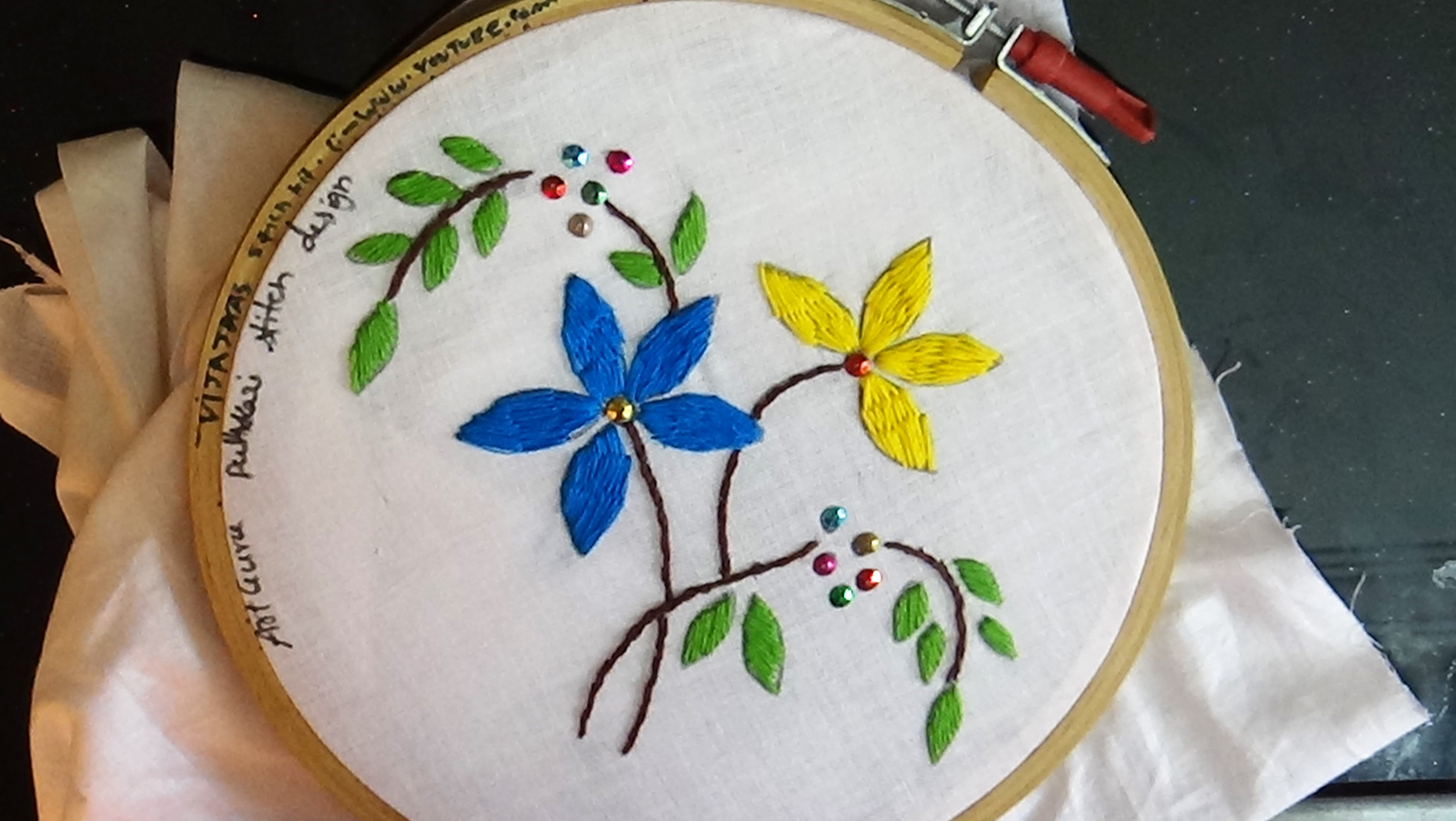 How To Make Embroidery Patterns Handcraft Guru Easy Creative Hand Craft Ideas With Tutorial