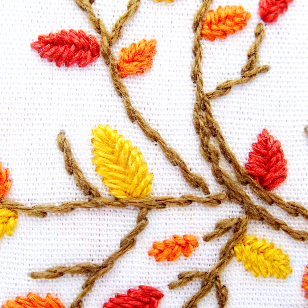 How To Make Hand Embroidery Patterns Autumn Tree Hand Embroidery Pattern