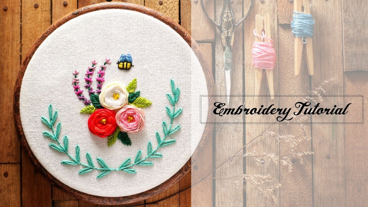 How To Make Hand Embroidery Patterns Bee In The Garden Free Hand Embroidery Pattern Tutorial