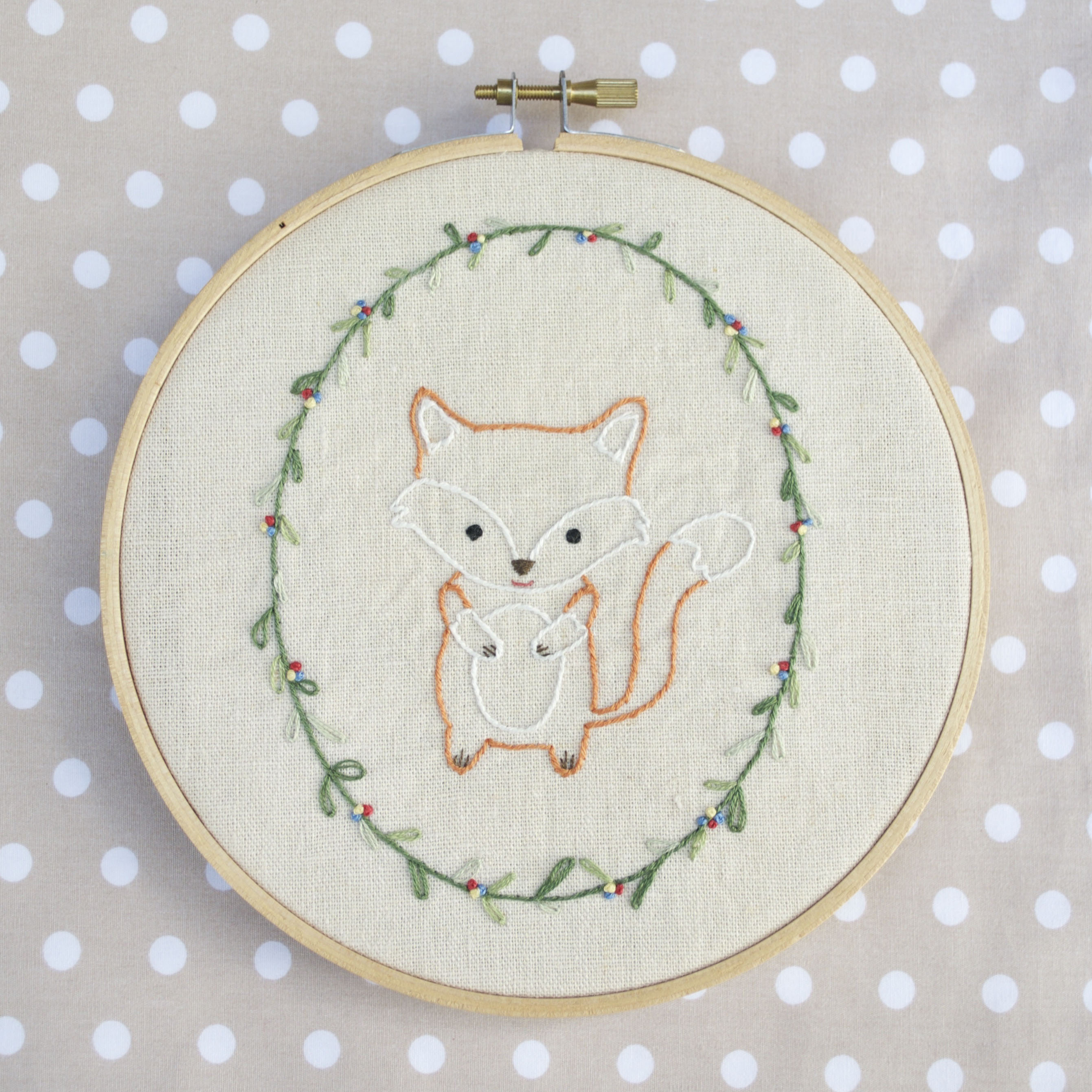 How To Make Hand Embroidery Patterns Little Fox Hand Embroidery Pdf Pattern Instructions