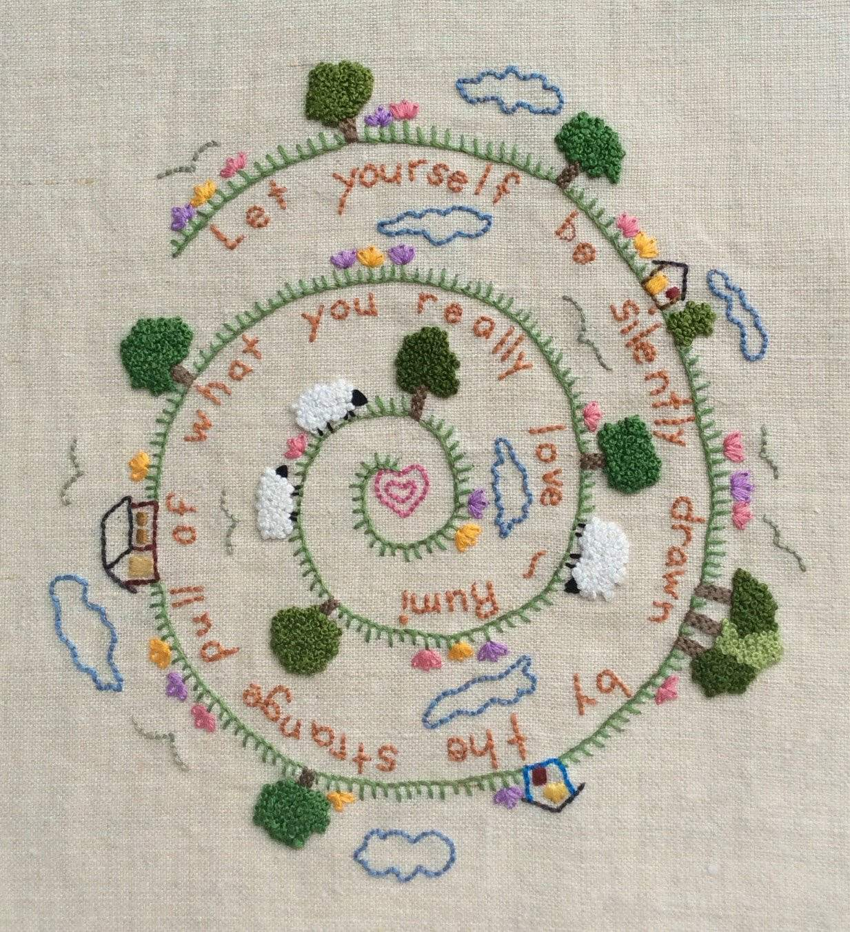 How To Make Hand Embroidery Patterns Lovely Hand Embroidery Pattern Pdf Instant Download Rumi Diy Hand