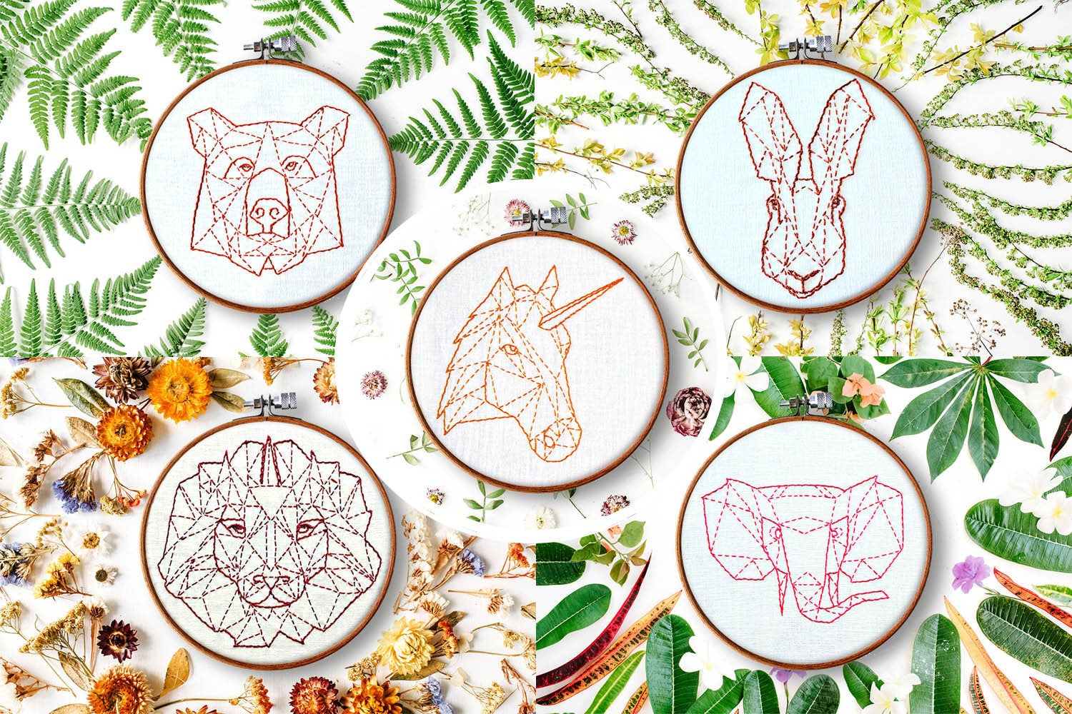 How To Make Hand Embroidery Patterns Modern Hand Embroidery Patterns Geometric Animals Beginner Embroidery Embroidery Ideas Contemporary Embroidery Rustic Home Decor