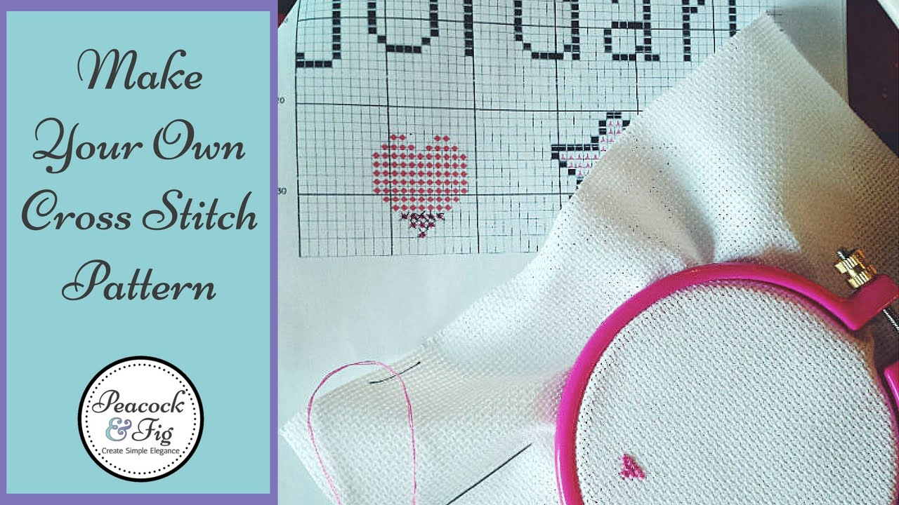 How To Make Your Own Embroidery Pattern Design Cross Stitch Patterns How To Make Cross Stitch Charts