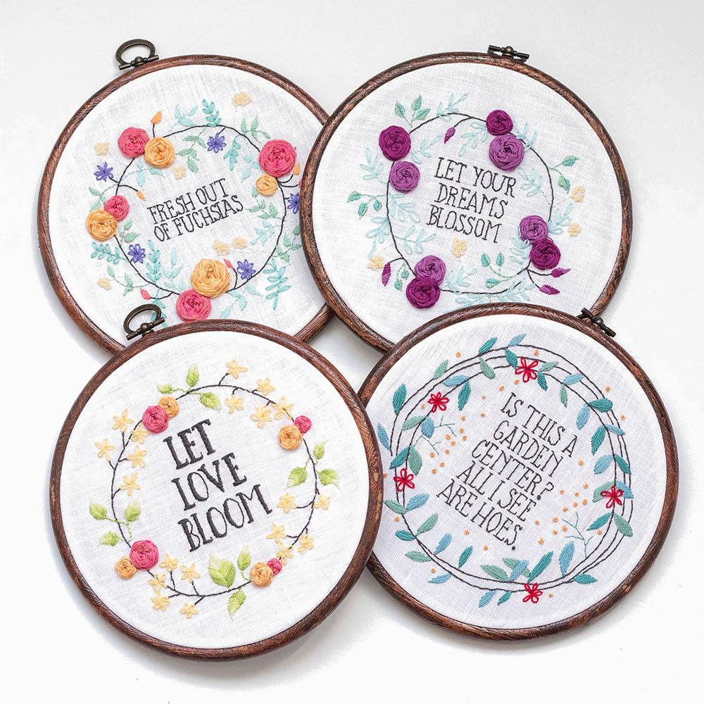How To Make Your Own Embroidery Pattern Go Bloom Yourself Hand Embroidery Pattern Set