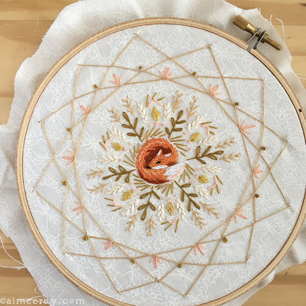 How To Make Your Own Embroidery Pattern Little Dear Tracks Embroider A Dream Catcher