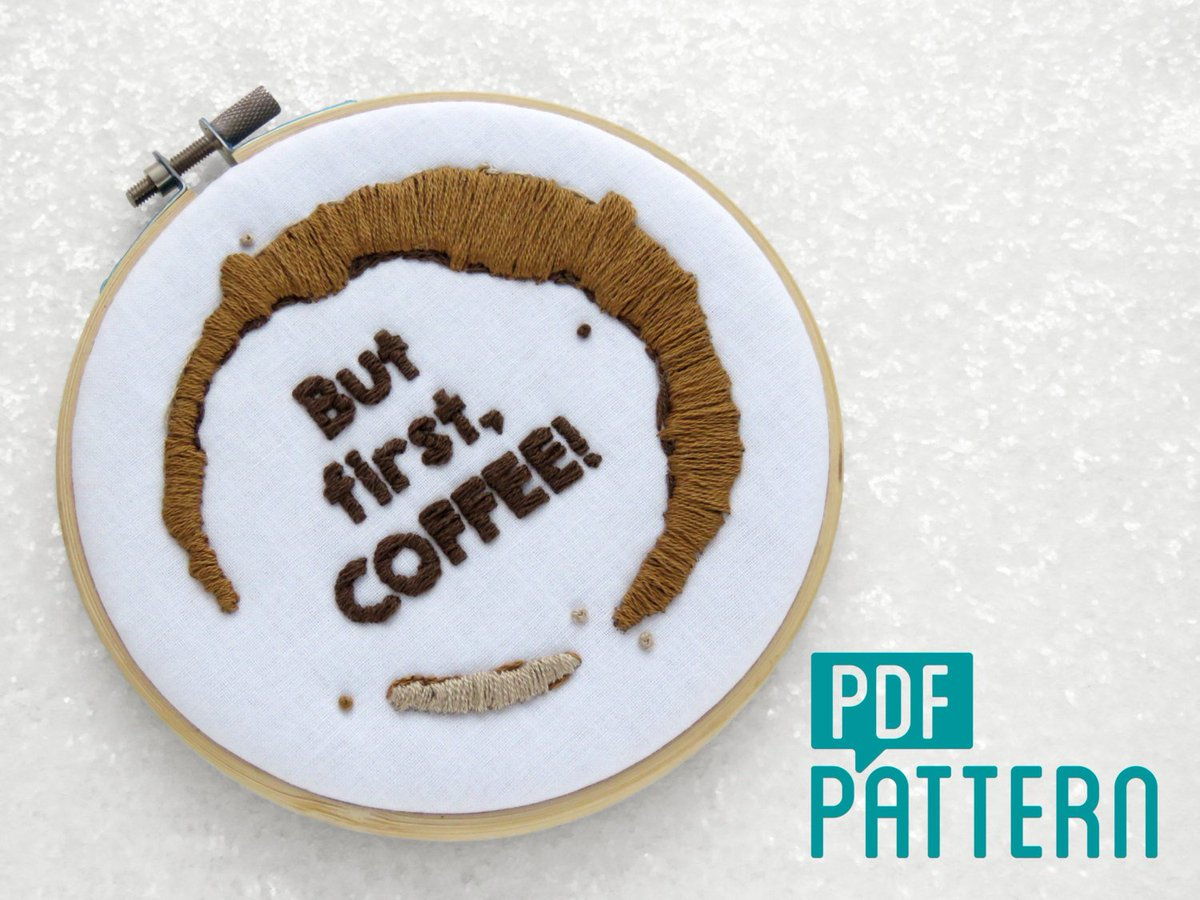 How To Make Your Own Embroidery Pattern Oh Sew Bootiful On Twitter Coffee Lovers Embroidery Pattern Funny