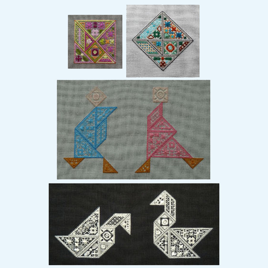 How To Make Your Own Embroidery Pattern Tangram A