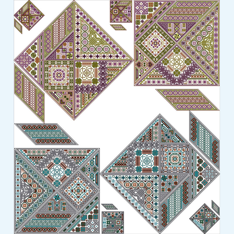 How To Make Your Own Embroidery Pattern Tangram B4