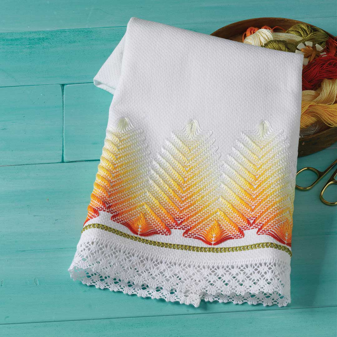 Huck Embroidery Patterns Free A Huck Towel To Embroider Interweave