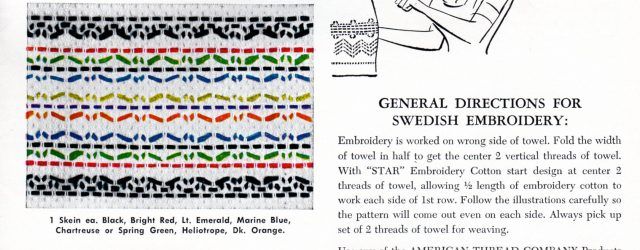 Huck Embroidery Patterns Free Free Swedish Embroidery Patterns Archives Vintage Crafts And More