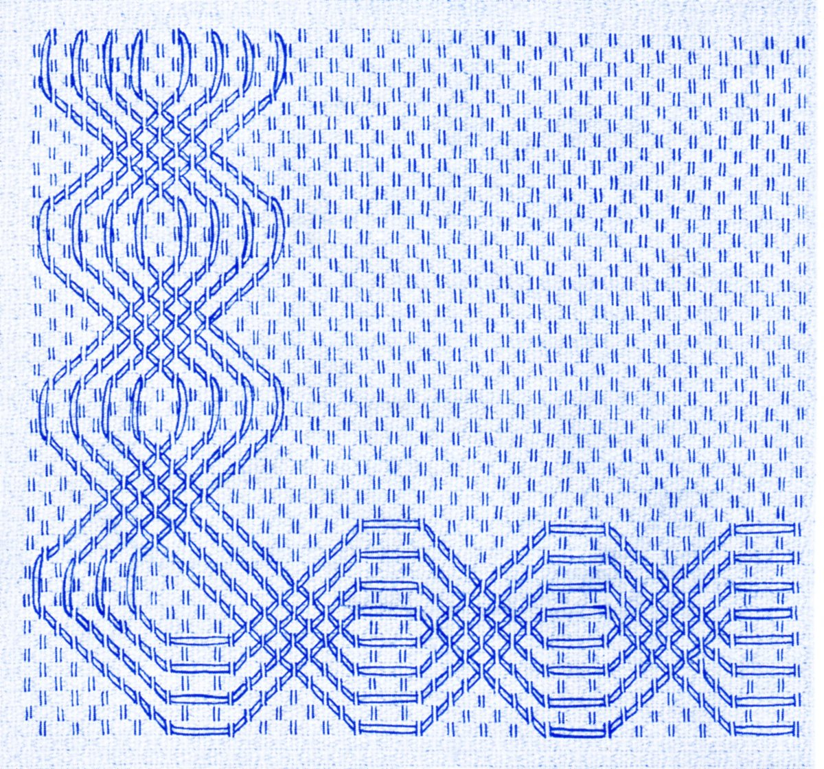 Huck Embroidery Patterns Free Huck Weaving Swedish Weaving Patterns Easy To Do Borders