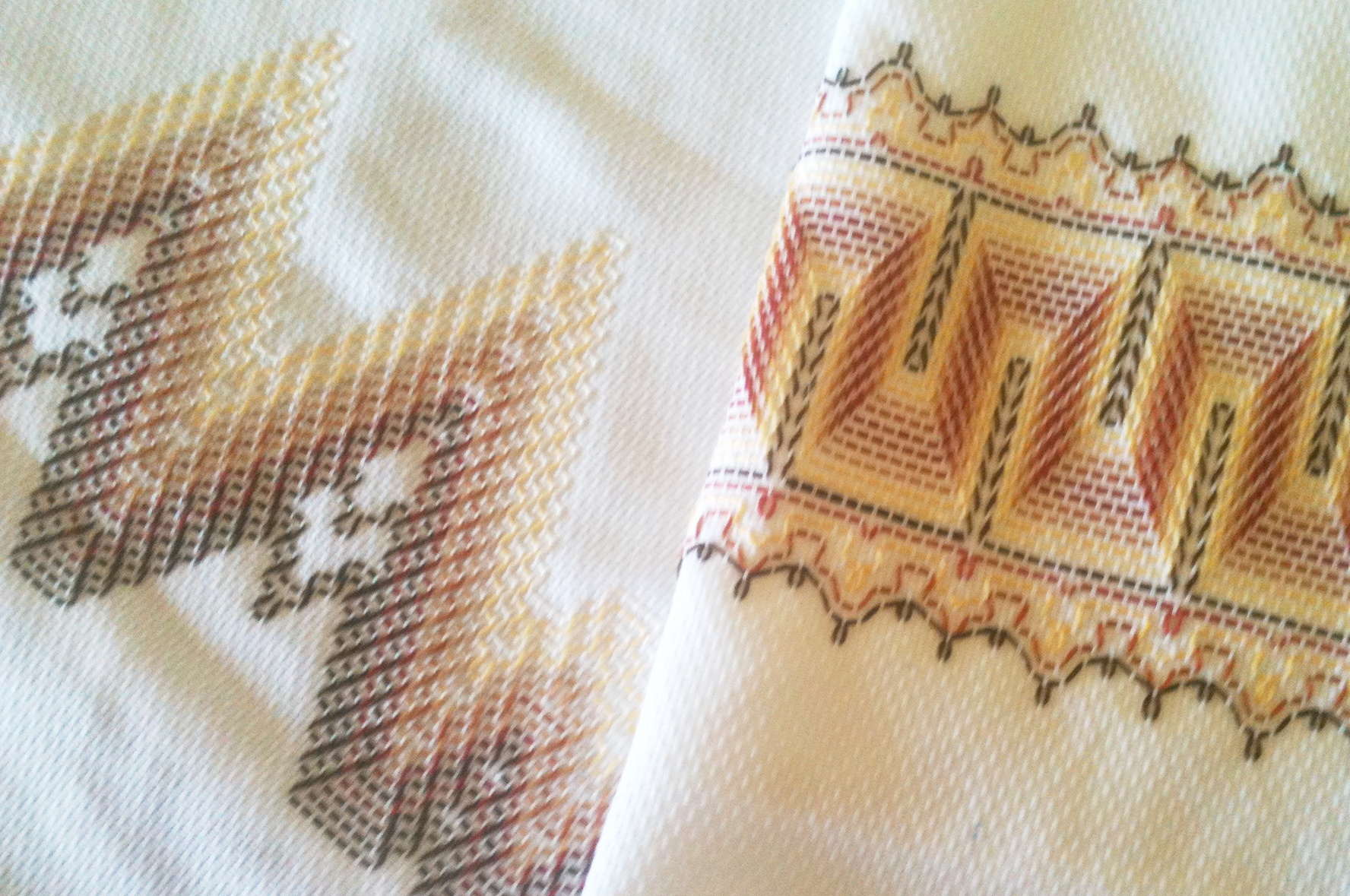 Huck Embroidery Patterns Free Stash Couture Huck Towels The Destashification Project