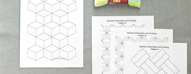 Japanese Embroidery Patterns Free Free Sashiko Repeating Embroidery Patterns