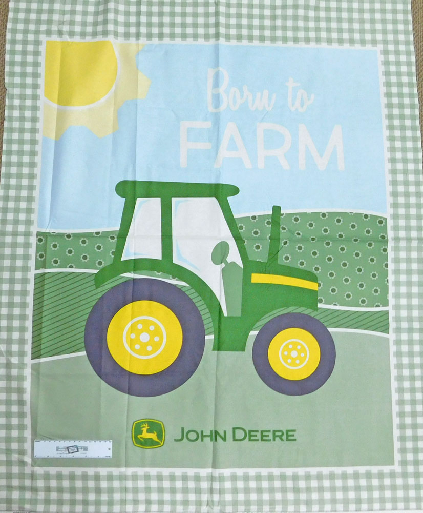 John Deere Embroidery Patterns Details About Patchwork Quilting Sewing Fabric John Deere Tractor Farm Panel 90x110cm New