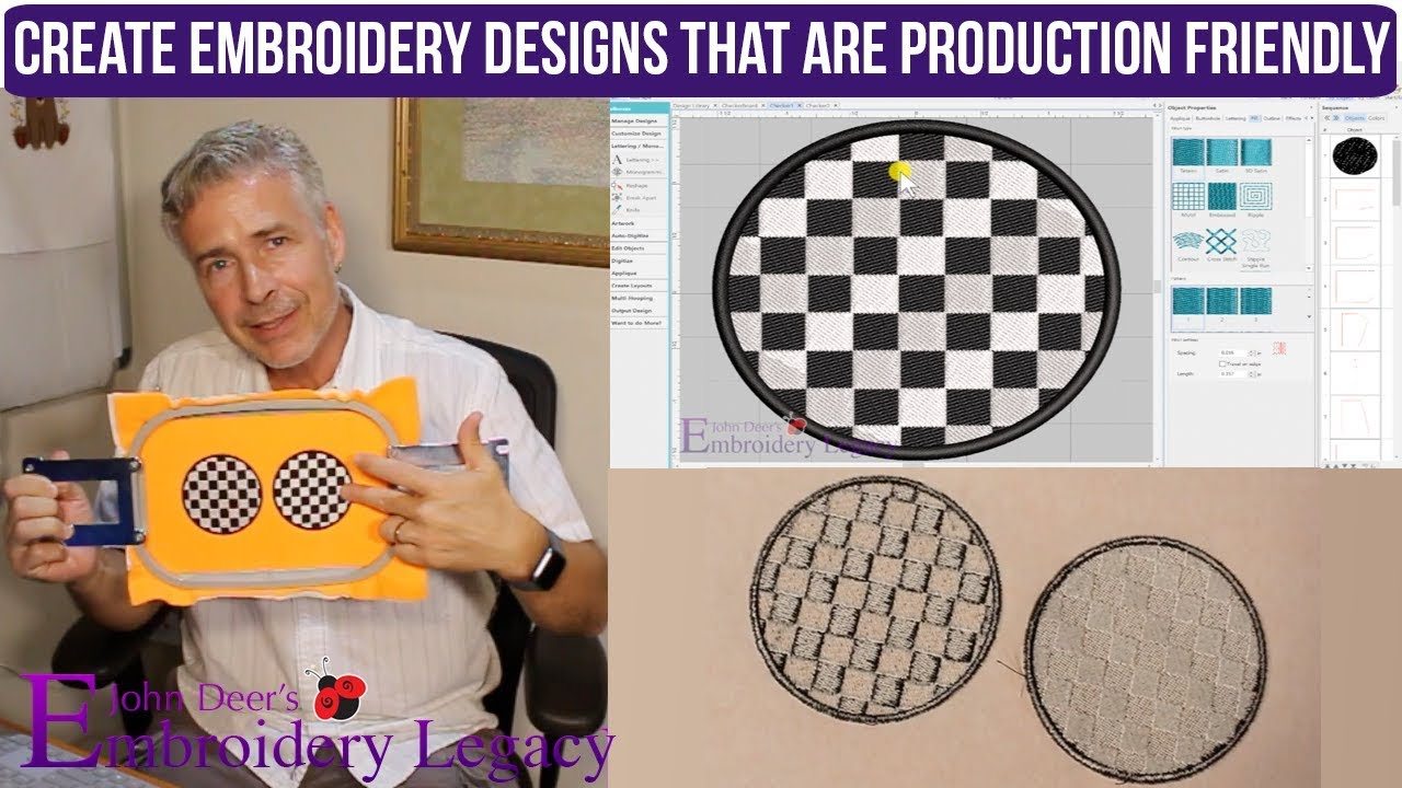 John Deere Embroidery Patterns How To Create Production Friendly Embroidery Designs