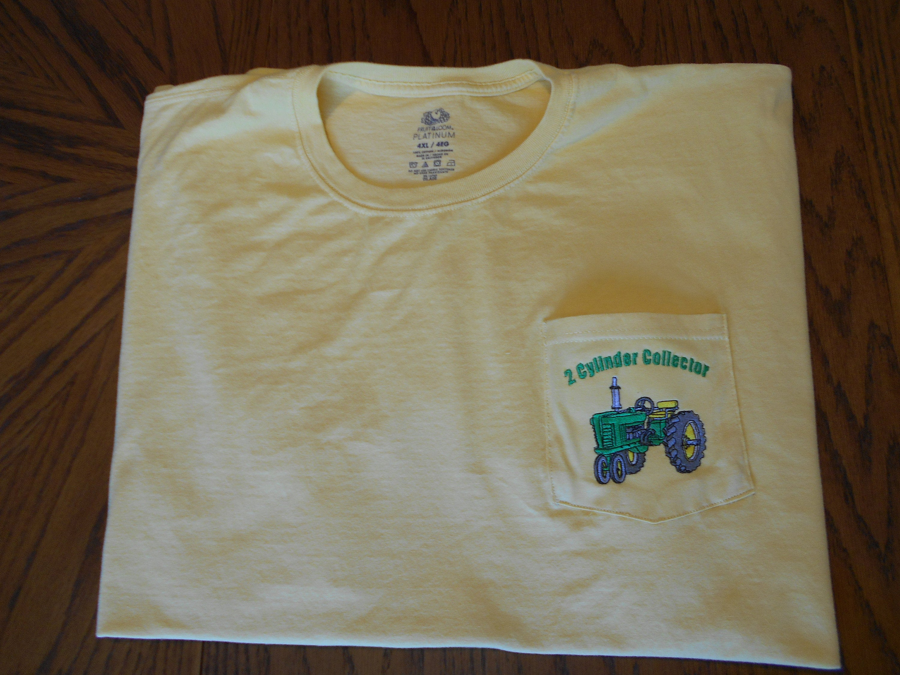 John Deere Embroidery Patterns New Listing Mens Ss T Shirt Machine Embroidery John Deere Design Size 4xl
